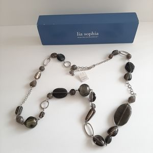 Lia Sophia Glass Bead Necklace